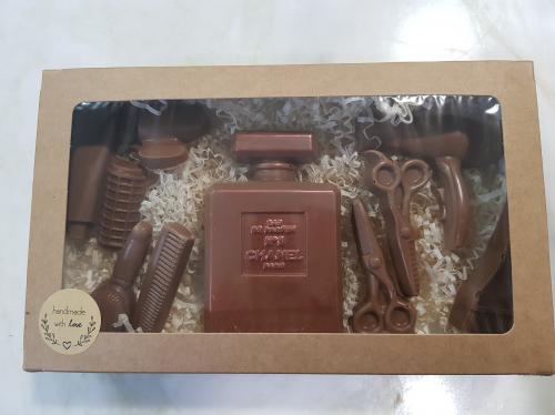 Шоколадный женский набор с духами Шанель