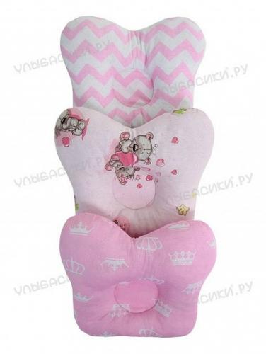 Ортопедическая детская подушка (бабочка) для новорожденных Подушка бабочка