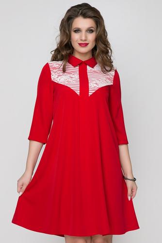 Платье #168716Красный