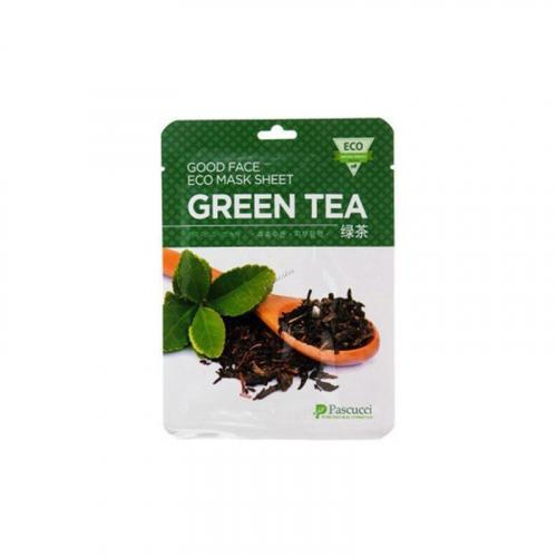 AMICELL PASCUCCI Тканевая Эко Маска Зеленый чай