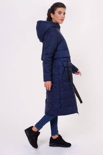 Пальто #151540Синий