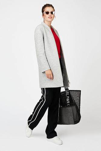 Пальто #177702Светло-серый
