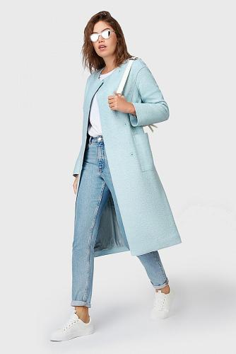 Пальто #177890Мятный
