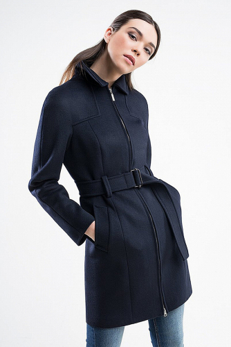 Пальто #176334Черно-синий