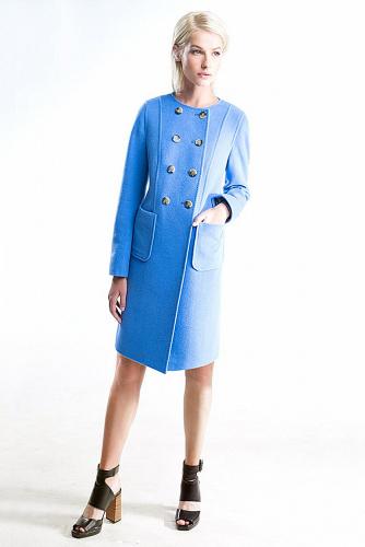 Пальто #176362Кобальт