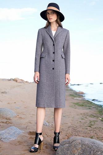 Пальто #176337Серый