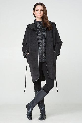 Пальто #176327Мокрый асфальт