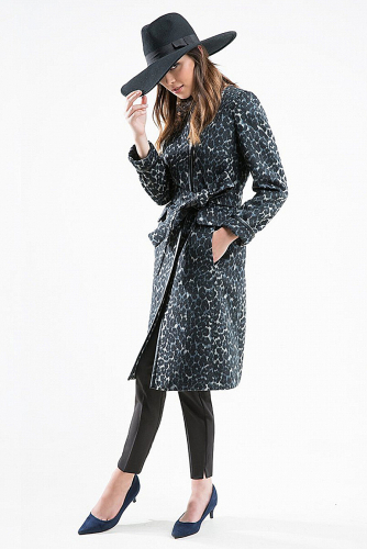 Пальто #176333Мультиколор