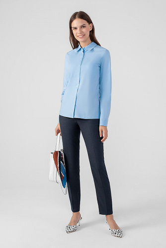 Блуза #178822Голубой