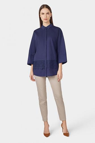 Блуза #180128Темно-синий