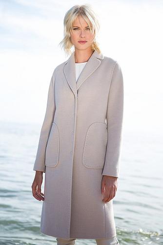 Пальто #176350Сливочный