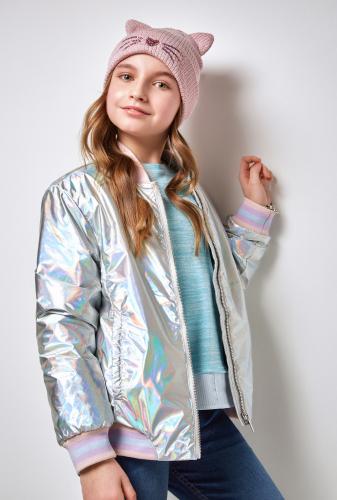 Куртка детская для девочек Wagner серебряный. ACOOLA