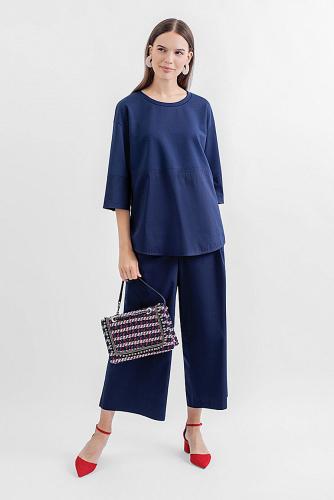 Блуза #180637Темно-синий