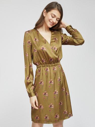 Платье из сатина на запах