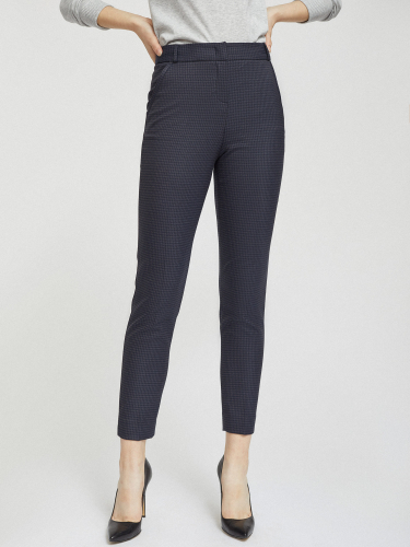 Укороченные брюки с узором