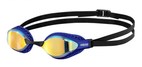 Очки для плавания AIRSPEED MIRROR yellow copper-blue (20-21)