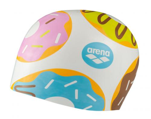 Шапка для плавания POOLISH MOULDED donuts white (19-20)