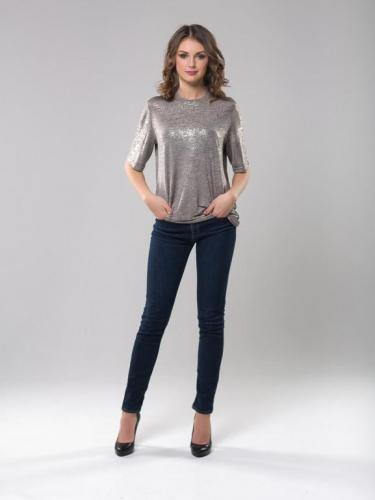 Блуза с золотистым покрытием