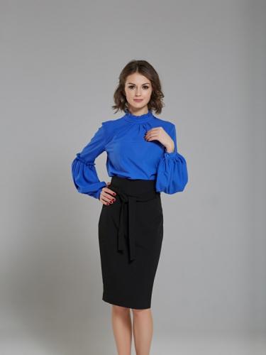 Блузка цвет синий электрик