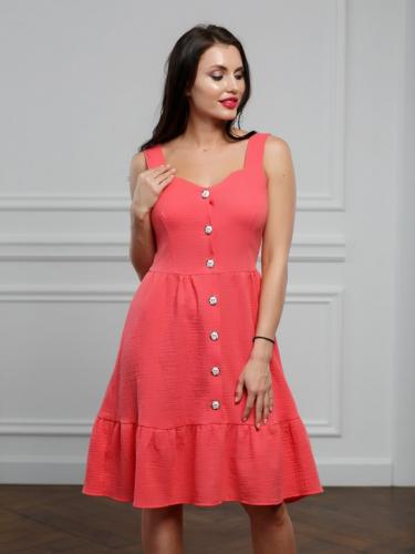 Платье цвет живой коралл