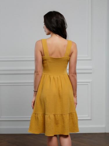 Платье цвет темно-желтый