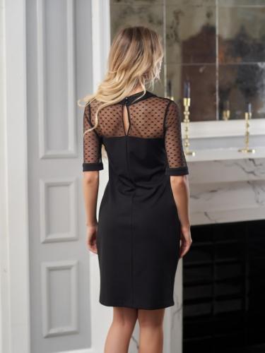 Платье с сеткой сердце