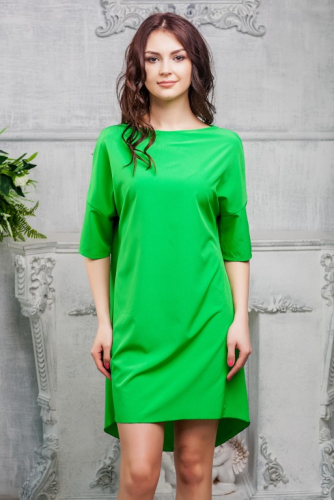 Платье свободного кроя цвет зелень