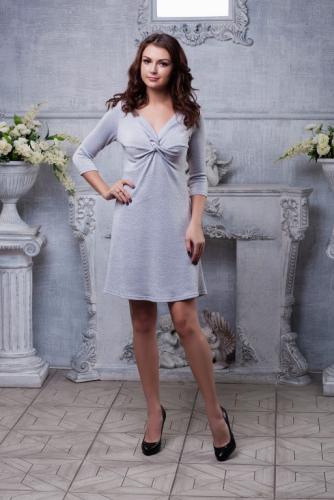 Платье с люрексом цвет серебро