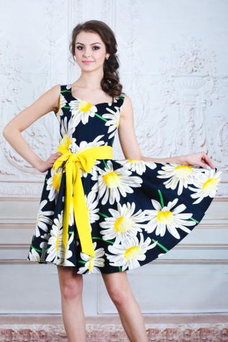Платье белая ромашка