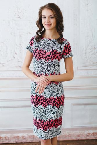 Платье кружево с розовым