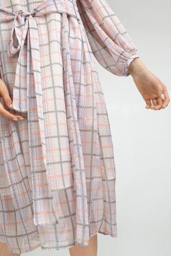 #95883 Платье (Emka Fashion) бежевый, черный, оранжевый