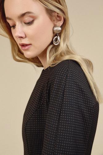 #93841 Платье (Emka Fashion) темно-синий, коричневый