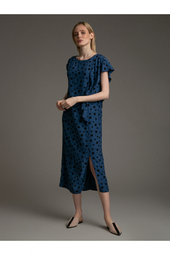 #94617 Платье (Emka Fashion) темно-синий