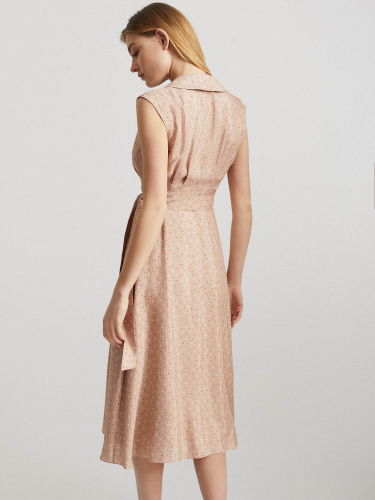 Струящееся платье на запах с принтом