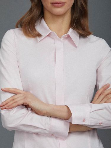 Приталенная рубашка из хлопка