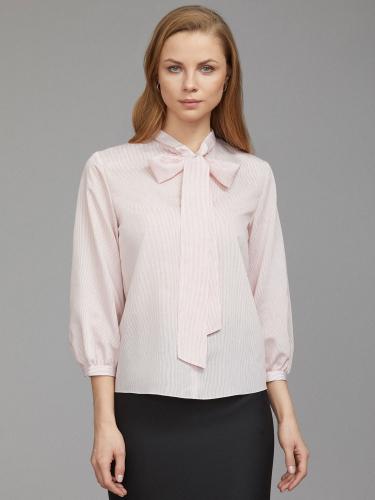 Блуза с воротником-аскот