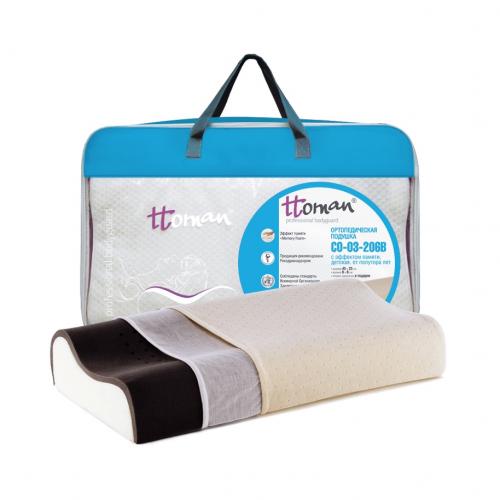 Подушка детская ортопедическая Ttoman CO-03-206B c эффектом памяти, угольная 40x25 см