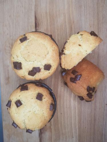 Кексы с кусочками темного шоколада
