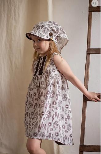 платье для девочки Л20-3 Леся листики