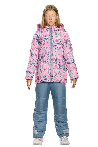Комплект (Куртка+Полукомбинезон) #146302Розовый