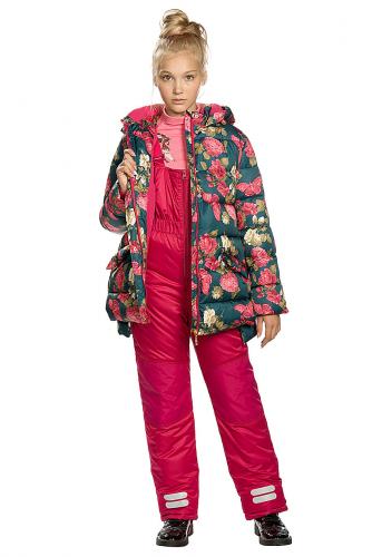 Комплект (Куртка+Полукомбинезон) #146306Изумрудный