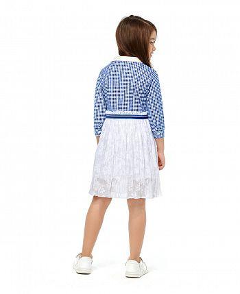 Платье Скажи ДА с длинным рукавом клетчатое  83-66