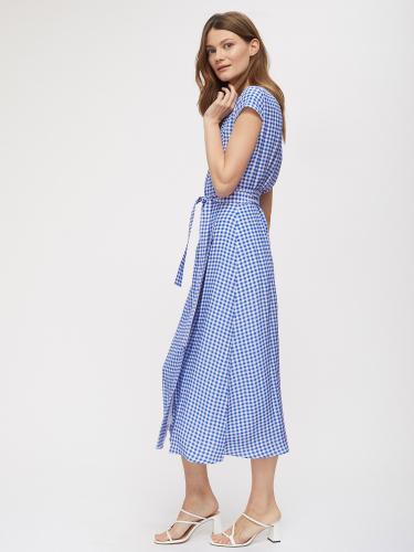 Платье на запах в клетку виши