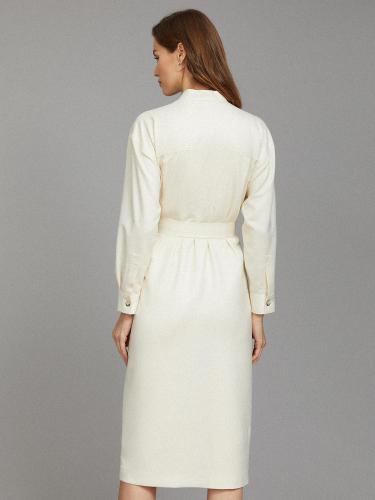 Платье миди с накладными карманами