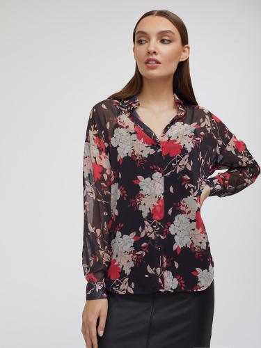 Свободная блуза с принтом