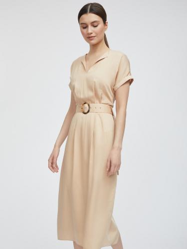 Платье из мягкой вискозы с поясом
