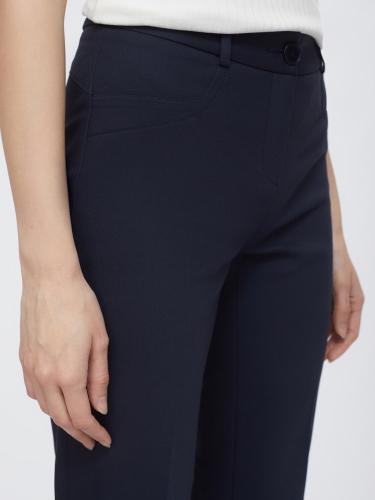 Прямые брюки со вставками в тон