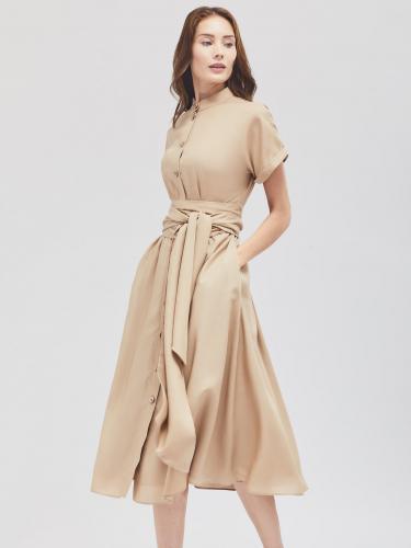 Платье миди с широким поясом