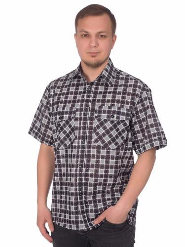 Мужская рубашка мужская бязевая - короткий рукав