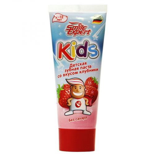 Smile Expert Детская зубная паста со вкусом клубники, 75ml